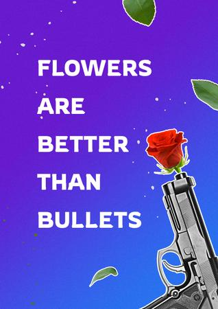 Template di design Social Issue Coverage with Flower in Gun Poster