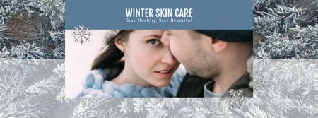 Plantilla de diseño de Skincare Guide Tender Couple in Winter Clothes Facebook Video cover