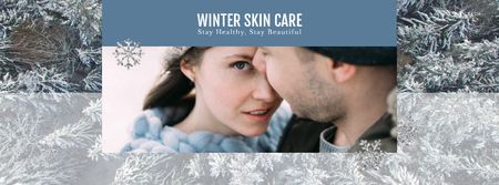 Template di design Skincare Guide Tender Couple in Winter Clothes Facebook Video cover