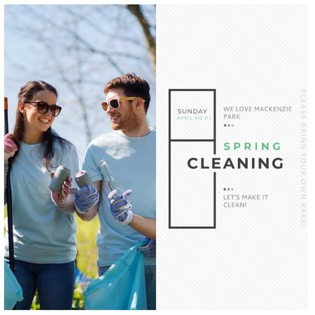 Spring Cleaning in Mackenzie park Instagramデザインテンプレート
