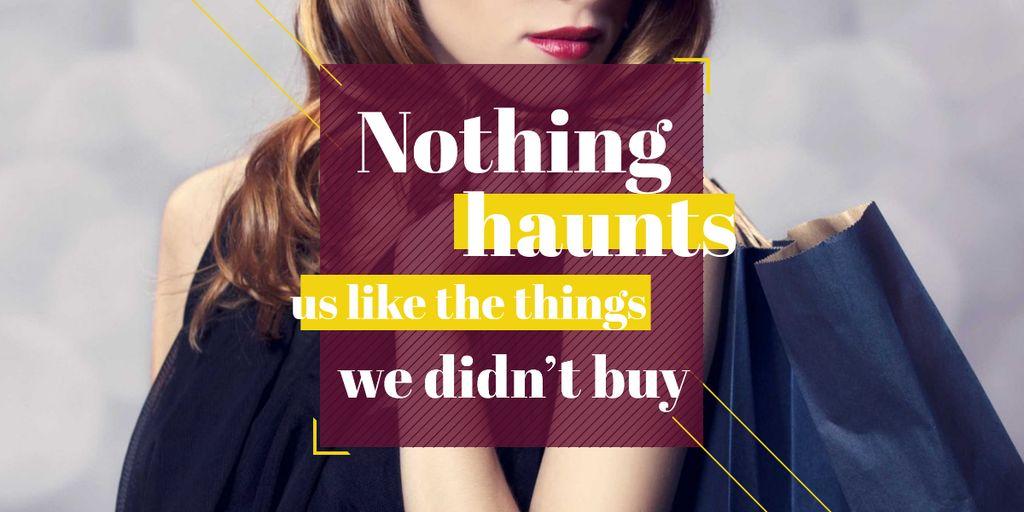 Quotation about shopping haunts — Crear un diseño