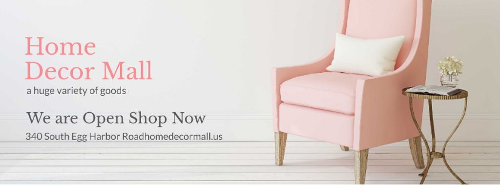 Home Decor Offer with Soft pink armchair — ein Design erstellen