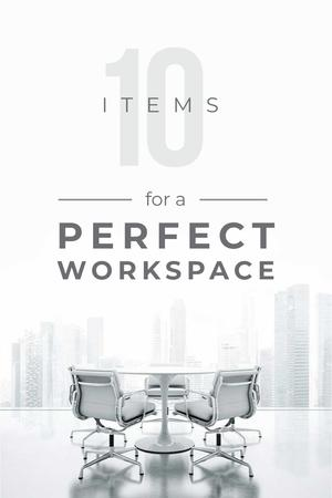 Ontwerpsjabloon van Pinterest van Items for perfect work space