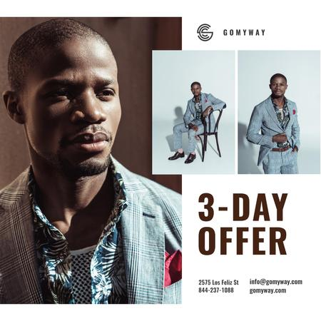 Ontwerpsjabloon van Instagram van Suits Store Offer Stylish Businessman