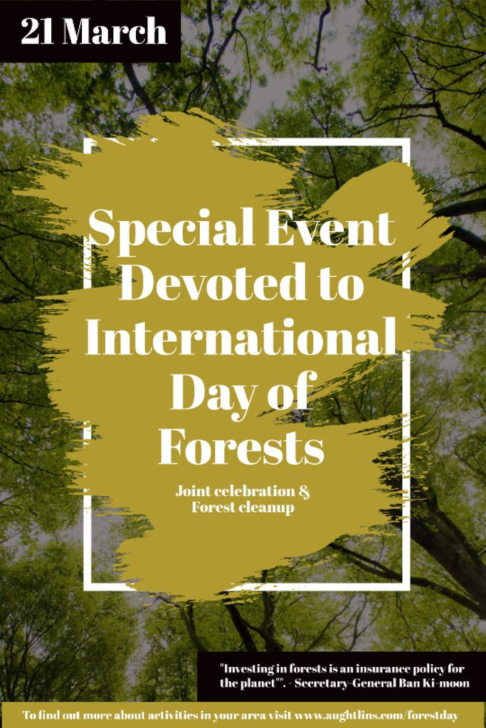 International Day of Forests Event Tall Trees Tumblr Design Template