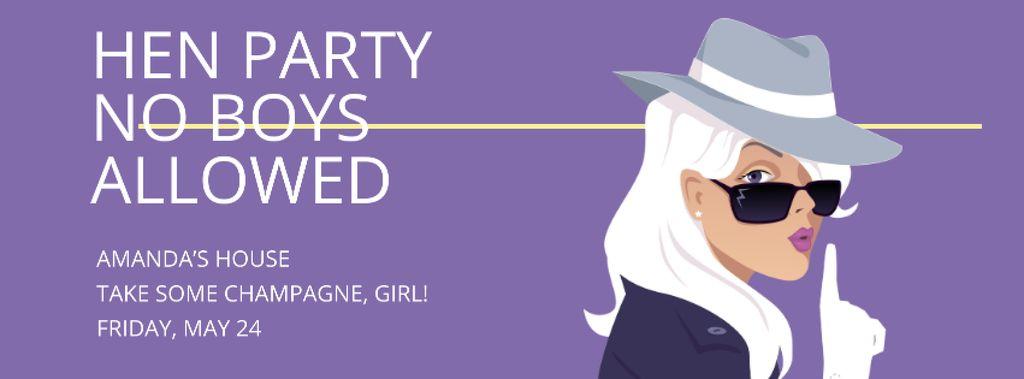 Hen party for girls in Amanda's House — Modelo de projeto