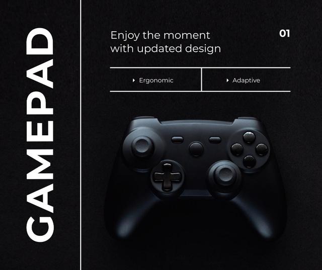 Ontwerpsjabloon van Facebook van New app Design Ad with VR console