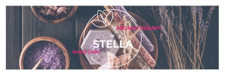 Aromatherapy in Stella beauty center poster Twitterデザインテンプレート