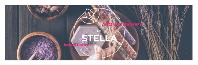 Aromatherapy in Stella beauty center poster Twitter – шаблон для дизайна