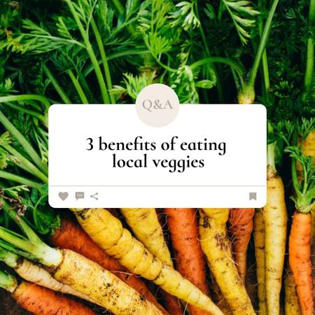 Designvorlage Local Veggies Ad with Fresh Carrot für Instagram