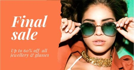 Modèle de visuel Jewellery and Sunglasses Sale Offer - Facebook AD