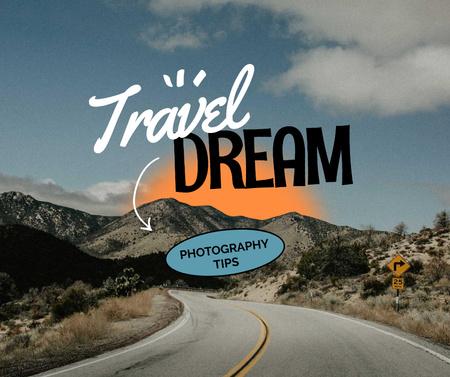 Scenic Landscape of Mountain Road Facebook – шаблон для дизайну