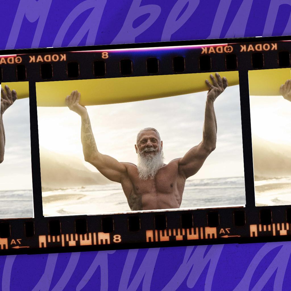 Manhood Inspiration with Elder Muscular Man Instagram Modelo de Design