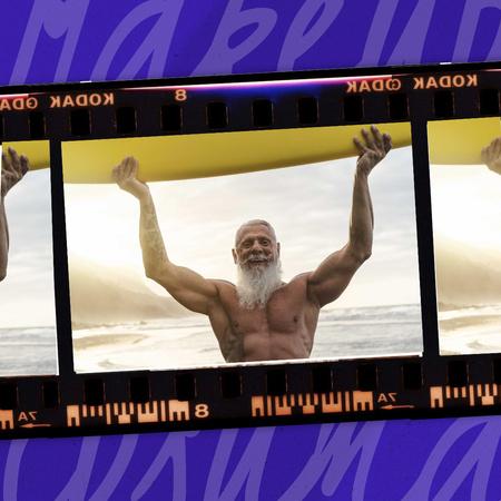 Designvorlage Manhood Inspiration with Elder Muscular Man für Instagram