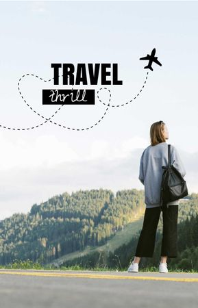 Template di design Travel Blog Promotion with Woman on the Road IGTV Cover