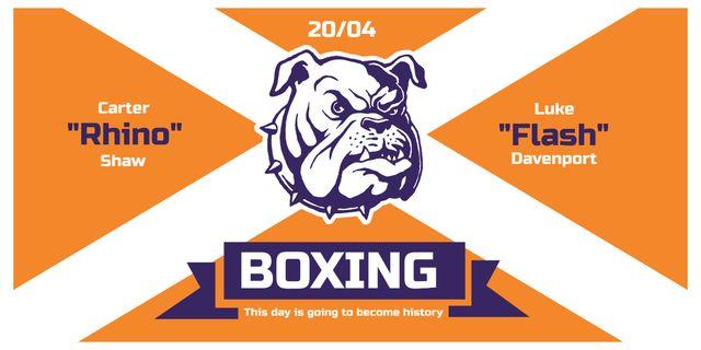 Boxing match announcement Image Modelo de Design