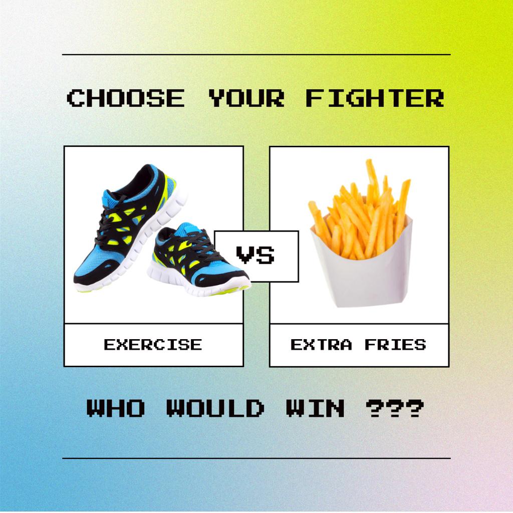 Modèle de visuel Funny Joke about Healthy Lifestyle - Instagram