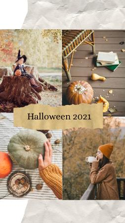Halloween Inspiration with Ripe Pumpkins Instagram Story Modelo de Design