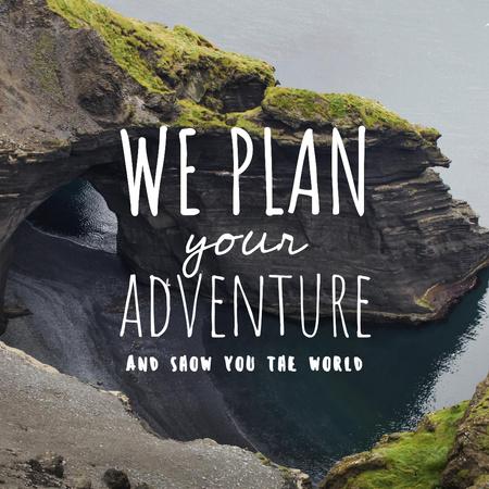 Travel Agency Offer with Ocean Cliff Instagram Modelo de Design