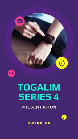Smart Watches Presentation Ad Instagram Story Modelo de Design