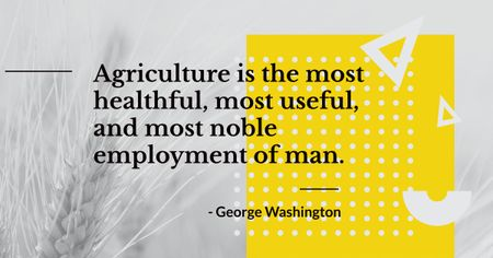 Agricultural quote with ear of wheat Facebook AD Modelo de Design