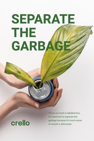 Szablon projektu Recycling Concept with Woman Holding Plant in Can Tumblr
