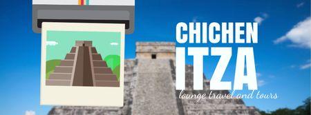 Template di design Chichen Itza famous sights Facebook Video cover