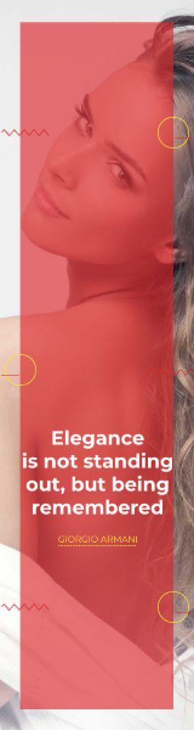 Citation about Elegance being remembered Skyscraper – шаблон для дизайна