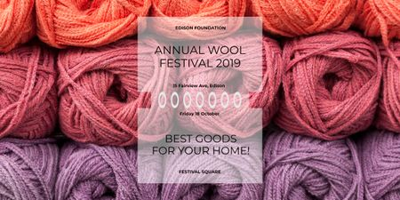 Knitting Festival Wool Yarn Skeins Imageデザインテンプレート