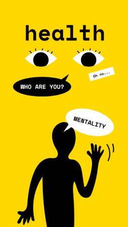 Bright Illustration about Mental Health Instagram Story Modelo de Design