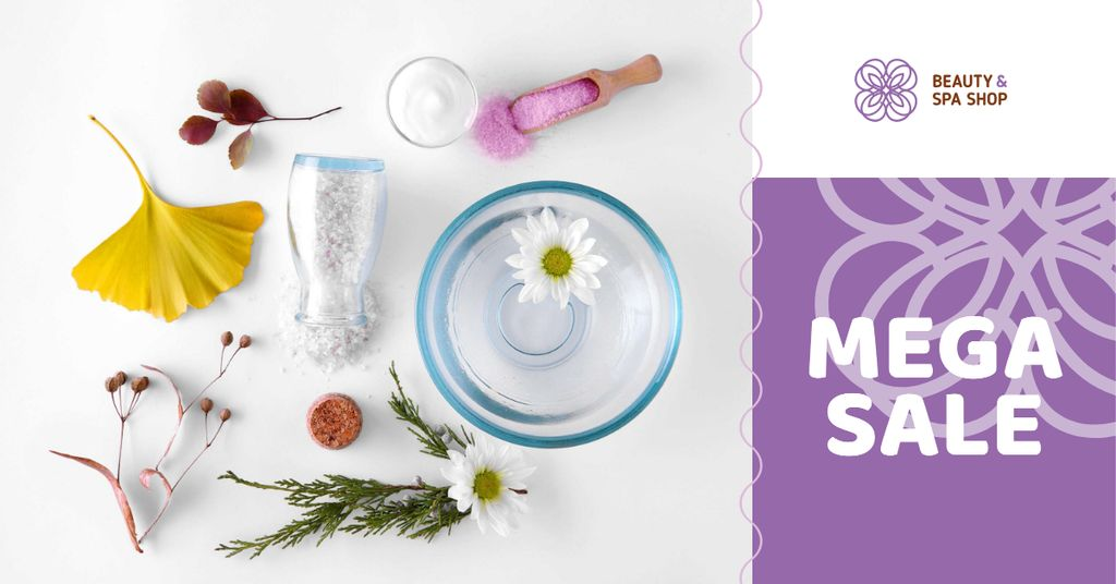 Beauty Shop Offer with Natural Skincare Products — Crear un diseño