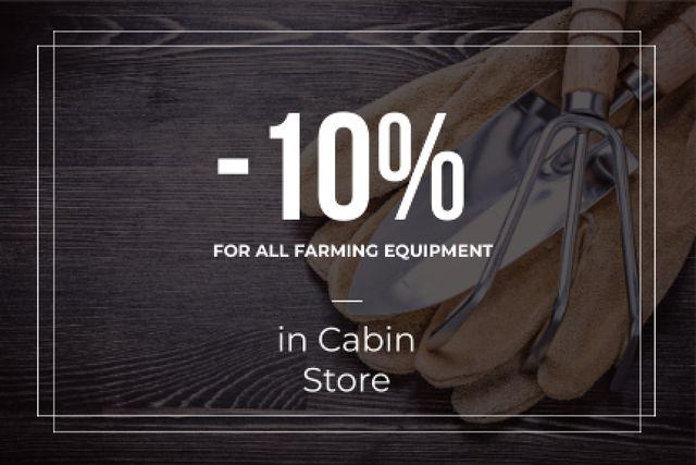 Discount card for farming equipment Gift Certificate – шаблон для дизайна