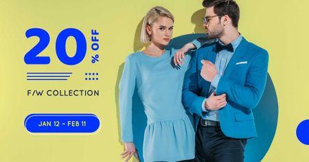 Modèle de visuel Fashion Collection Ad with Stylish Couple - Facebook AD