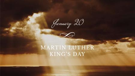 Martin Luther King's Day Announcement with Cloudy Sky FB event cover – шаблон для дизайна