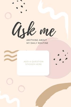 Designvorlage Daily Routine question form in pink für Pinterest