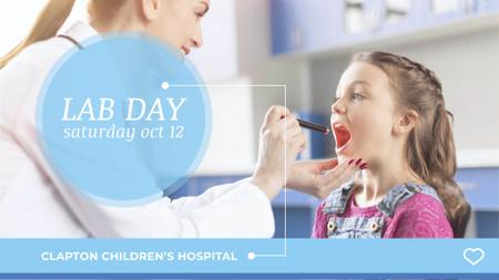 Children's Hospital Ad Pediatrician Examining Child FB event coverデザインテンプレート