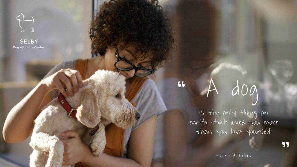 Dog Quote Cute Puppy with Owner —デザインを作成する