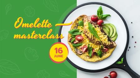Omelet dish with Vegetables FB event cover Modelo de Design
