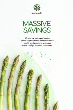 Natural Organic products and vegetables Offer Pinterest Design Template