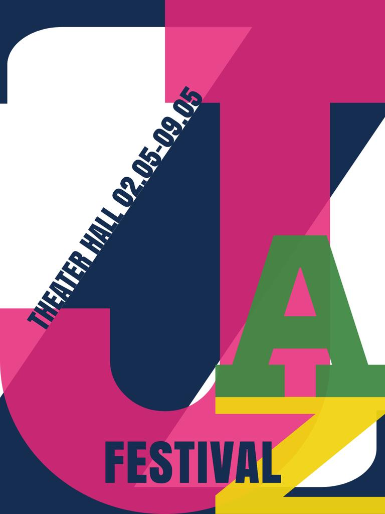Jazz festival invitation with letters — Create a Design