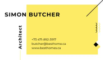 Architect Business Contacts in Yellow