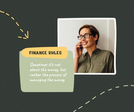 Plantilla de diseño de Confident Woman for Finance rules Facebook