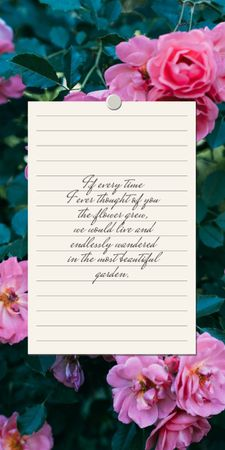 Love Quote with floral Garden Graphic – шаблон для дизайна