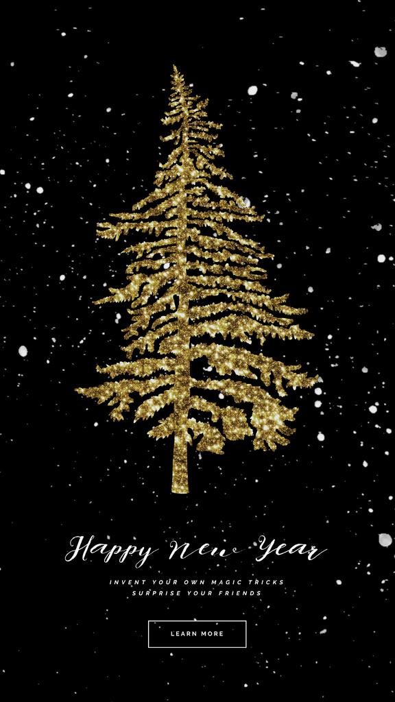Glittery Golden Christmas tree — Maak een ontwerp