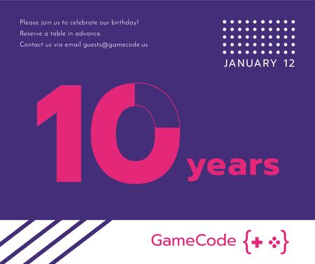 Template di design Video Games company anniversary Facebook