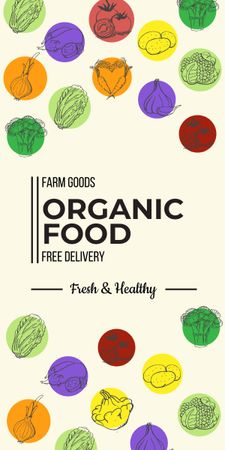 Organic food delivery service Graphic – шаблон для дизайна