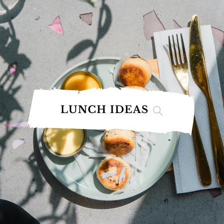 Template di design Delicious lunch with Cheese Pancakes Instagram
