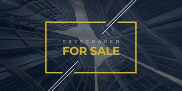 Real Estate Advertisement with Modern Skyscrapers