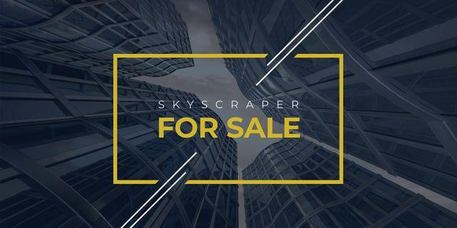 Modèle de visuel Real Estate Advertisement with Modern Skyscrapers - Twitter