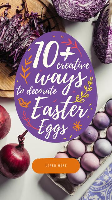 Ontwerpsjabloon van Instagram Story van Colored Easter eggs